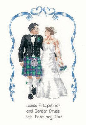 Scottish Wedding Cross Stitch Kit by Heritage Crafts