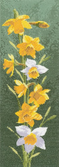 Daffodil Panel Cross Stitch Kit by Heritage Crafts