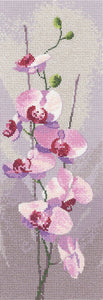 Orchid Panel Cross Stitch Kit by Heritage Crafts (miniature)