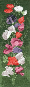Sweet Pea Panel Cross Stitch Kit by Heritage Crafts