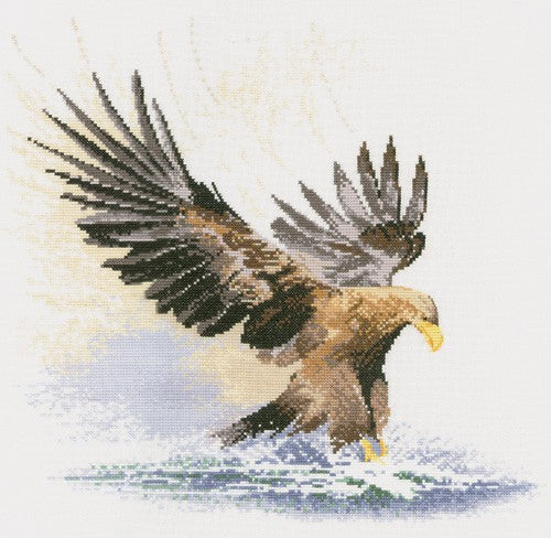 Eagle in Flight Cross Stitch Kit by Heritage Crafts