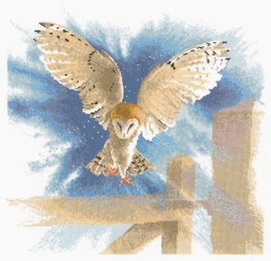 Owl in Flight Cross Stitch Kit by Heritage Crafts