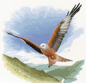 Red KIte in Flight Cross Stitch Kit by Heritage Crafts