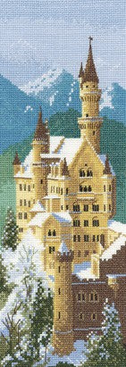 Neuschwanstein Castle Cross Stitch Kit by Heritage Crafts