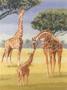 Giraffes Cross Stitch Kit by Heritage Crafts