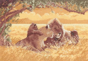 Lions Cross Stitch Kit by Heritage Crafts