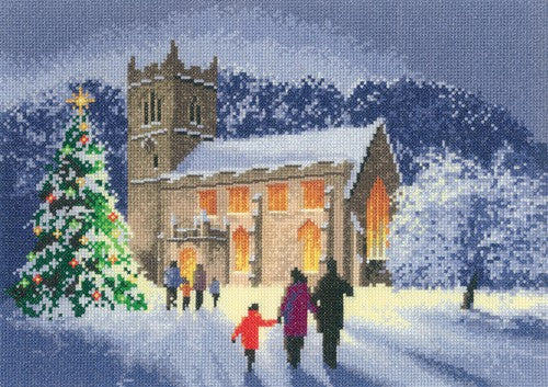 Christmas Church Cross Stitch Kit by Heritage Crafts