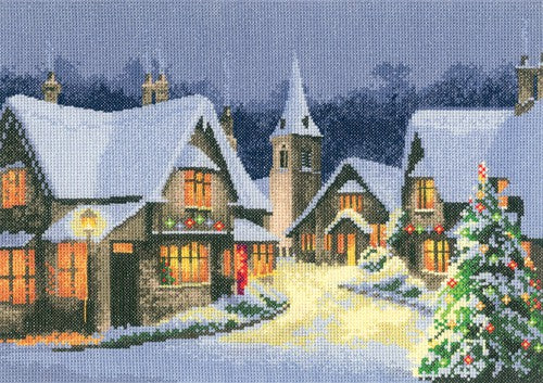 Christmas Village Cross Stitch Kit by Heritage Crafts