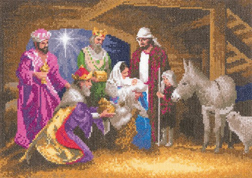 Nativity Cross Stitch Kit by Heritage Crafts