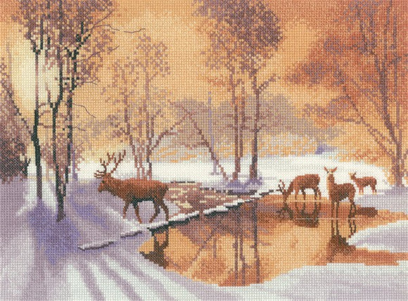 Stepping Stones Cross Stitch Kit by Heritage Crafts