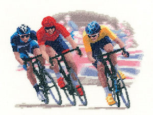 Cycle Race Cross Stitch Kit by Heritage Crafts