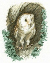Barn Owl Cross Stitch Kit by Heritage Crafts