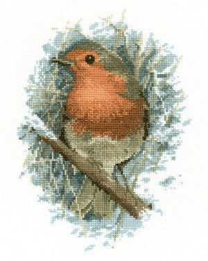 Robin Redbreast Cross Stitch Kit by Heritage Crafts