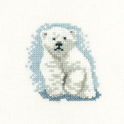 Polar Bear Cub Cross Stitch Kit by Heritage Crafts