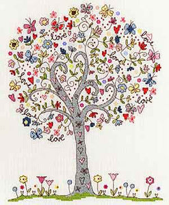 Love Tree Cross Stitch Kit By Bothy Threads