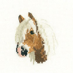 Palomino Pony Cross Stitch Kit by Heritage Crafts