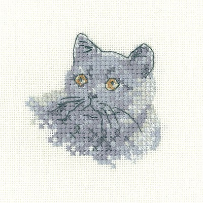 British Blue Cross Stitch Kit by Heritage Crafts
