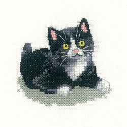 Black and White Kitten Cross Stitch Kit by Heritage Crafts