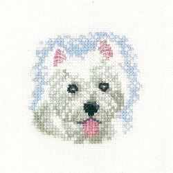 Westie Puppy Cross Stitch Kit by Heritage Crafts