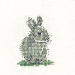 Baby Rabbit Cross Stitch Kit by Heritage Crafts