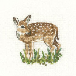 Fawn Cross Stitch Kit by Heritage Crafts