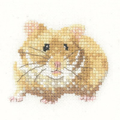 Hamster Cross Stitch Kit by Heritage Crafts