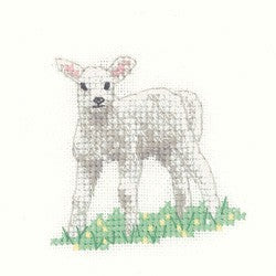 Lamb Cross Stitch Kit by Heritage Crafts