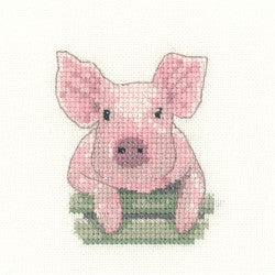 Pig Cross Stitch Kit by Heritage Crafts