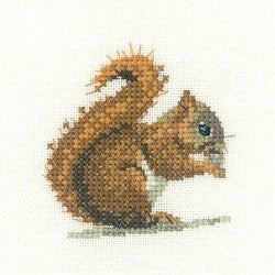 Red Squirrel Cross Stitch Kit by Heritage Crafts