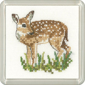 Fawn Cross Stitch Coaster Kit by Heritage Crafts