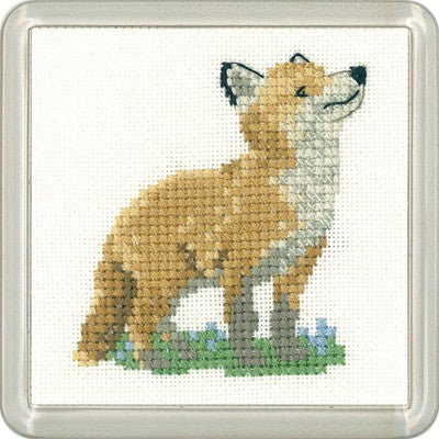 Fox Cub Cross Stitch Coaster Kit by Heritage Crafts