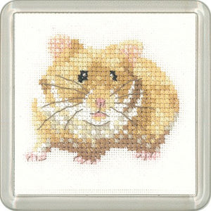 Hamster Cross Stitch Coaster Kit by Heritage Crafts