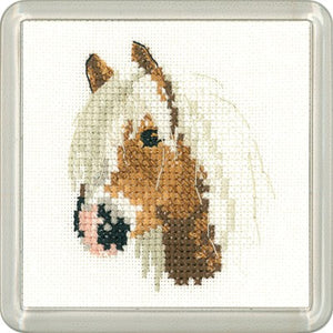 Palomino Pony Cross Stitch Coaster Kit by Heritage Crafts
