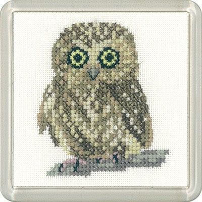 Owl Cross Stitch Coaster Kit by Heritage Crafts