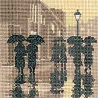Brollies Cross Stitch Kit by Heritage Crafts