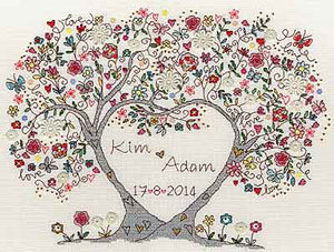 Love Blossoms Cross Stitch Kit By Bothy Threads