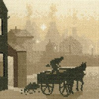 The Coalman Cross Stitch Kit by Heritage Crafts