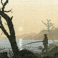 Gone Fishing Cross Stitch Kit by Heritage Crafts