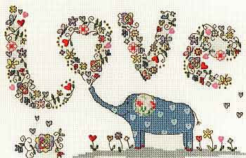 Love Elly Cross Stitch Kit By Bothy Threads