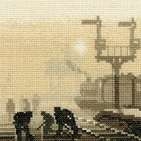 Steam Team Cross Stitch Kit by Heritage Crafts