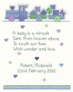 Baby Boy Cross Stitch Kit by Heritage Crafts