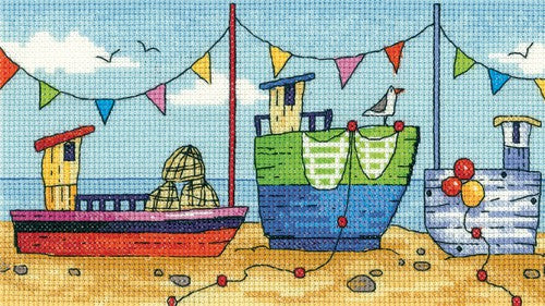 Boats Cross Stitch Kit by Heritage Crafts