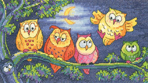 A Hoot of Owls Cross Stitch Kit by Heritage Crafts