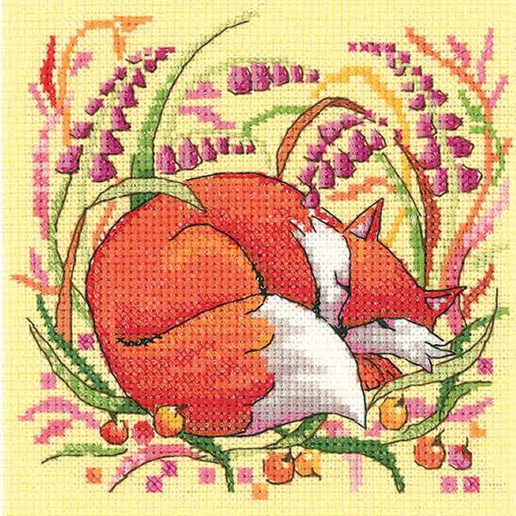 Fox Cross Stitch Kit by Heritage Crafts