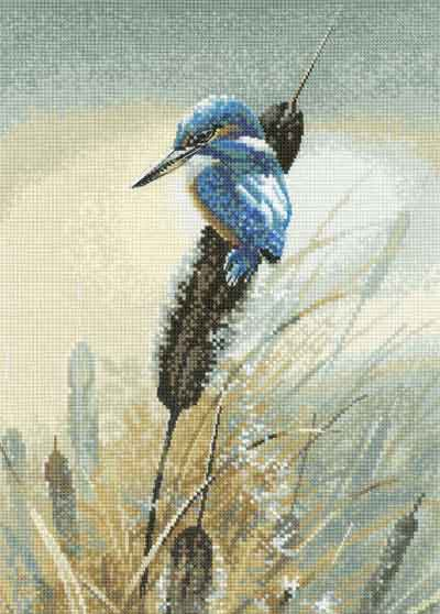 Little Fisher Cross Stitch Kit by Heritage Crafts