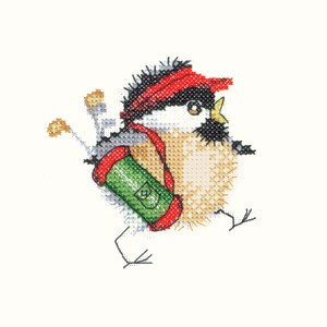 Golfing Chick Cross Stitch Kit by Heritage Crafts