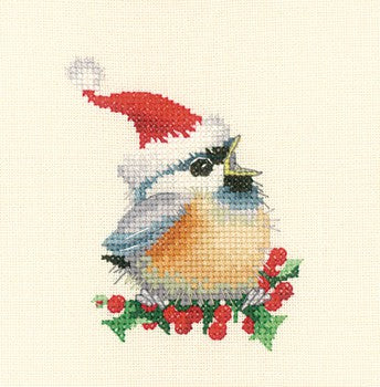 Christmas Chick Cross Stitch Kit by Heritage Crafts