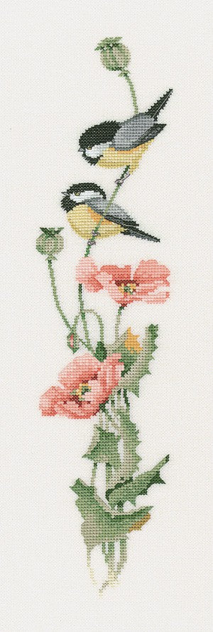 Serenade in Pink Cross Stitch Kit by Heritage Crafts