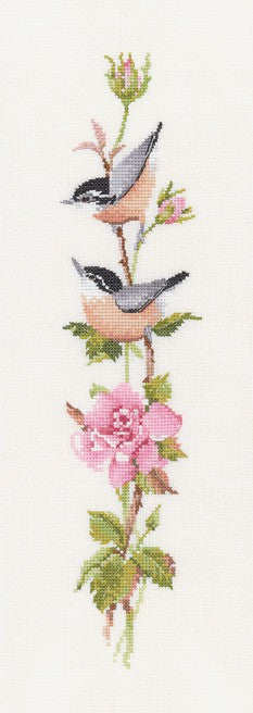 Sonatina Rose Cross Stitch Kit by Heritage Crafts
