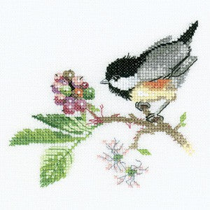 Chick Berry Cross Stitch Kit by Heritage Crafts